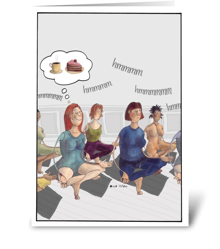 Sinfull thoughts greeting card