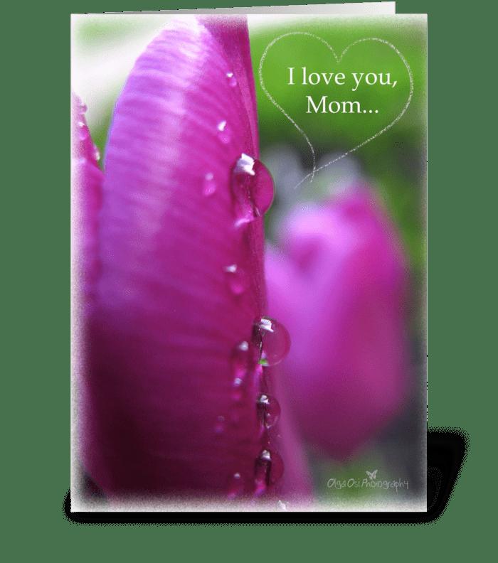 I love you, Mom greeting card