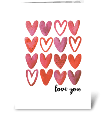 You are so loved... greeting card