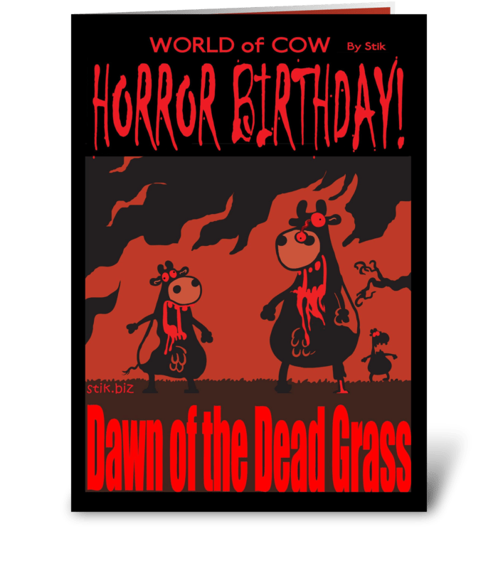 Dawn of the Dead Grass! BD card greeting card