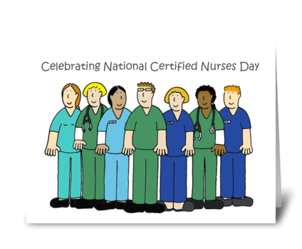Certified Nurses Day. greeting card