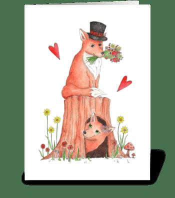 Charming Mr. Fox greeting card