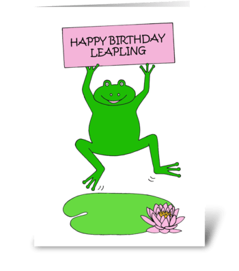 February 29th Leap Year Birthday greeting card