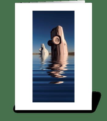 Cadillac Lake greeting card