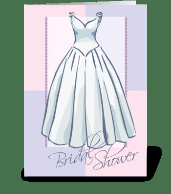 Bridal Shower Wedding Dress greeting card
