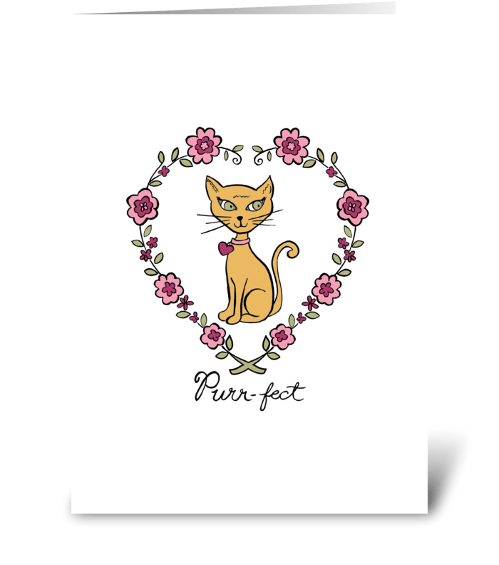Purr-fect greeting card