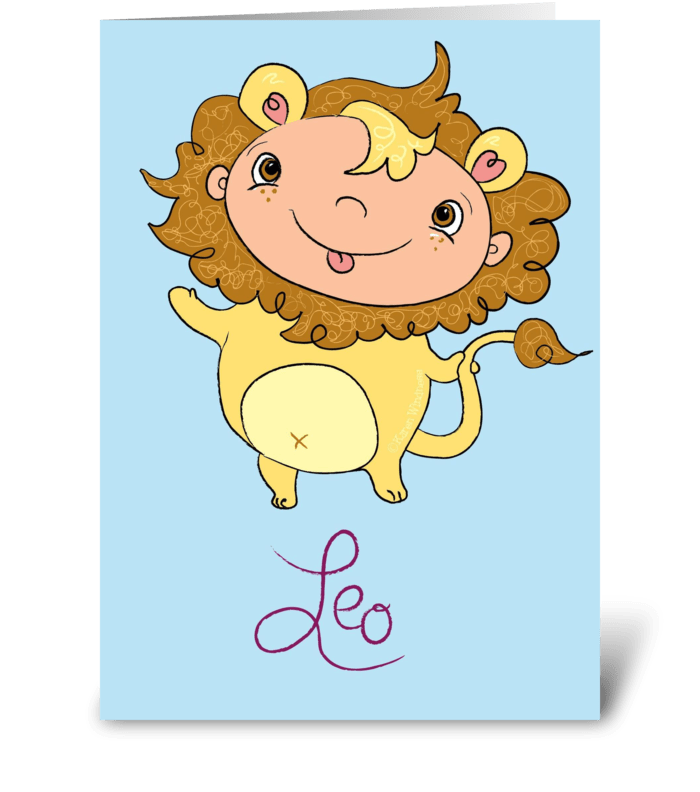 Little Leo Lion  greeting card