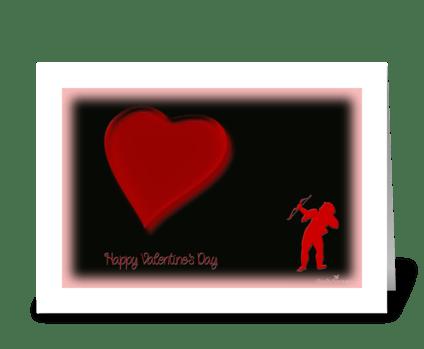 Cupid greeting card