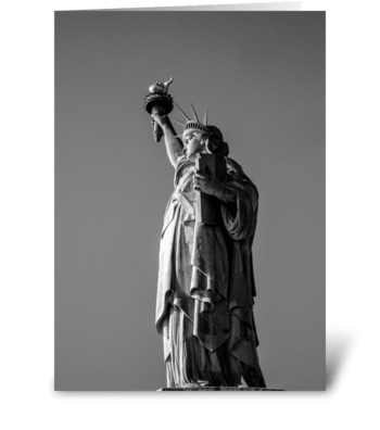 Statue of Liberty Profile greeting card