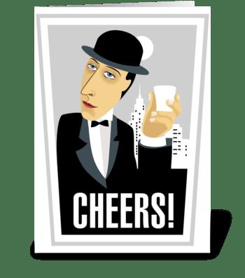 Cheers-gentleman greeting card