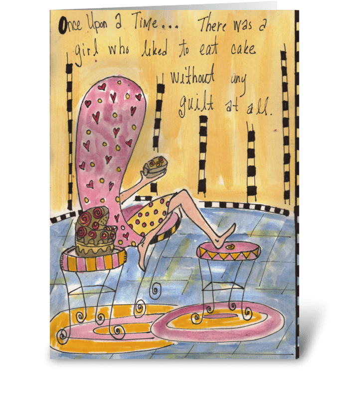 Once Upon A Time Cake Girl greeting card