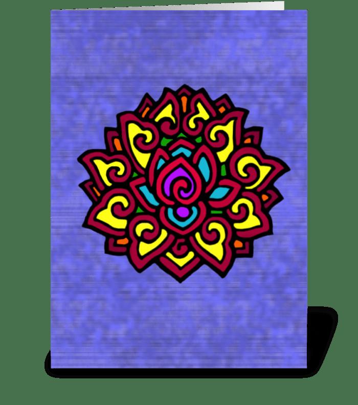 Lilac Chakra Lotus Namaste greeting card