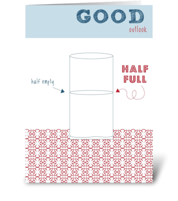 Good Outlook greeting card