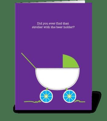 Stroller greeting card