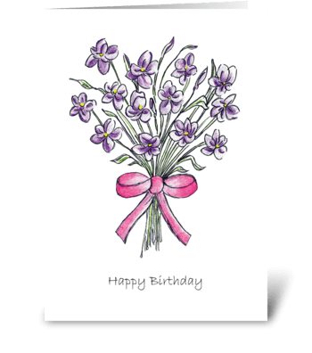 Happy Birthday Greetings greeting card