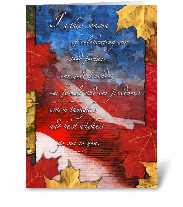 Celebrating the Season Thanksgiving Card greeting card