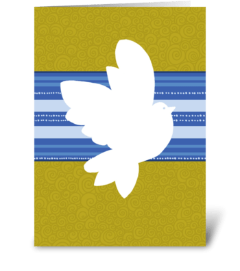 Shalom at Pesach - Dove greeting card
