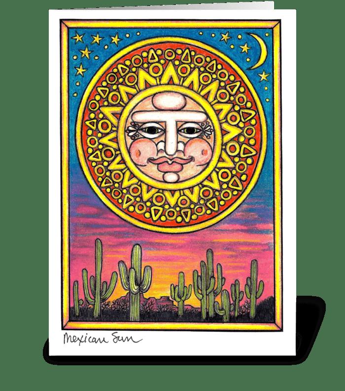 Mexican Sun greeting card