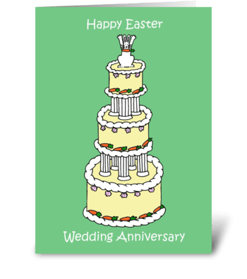 Easter Wedding Anniversary greeting card