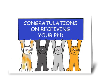 PhD Congratulations greeting card