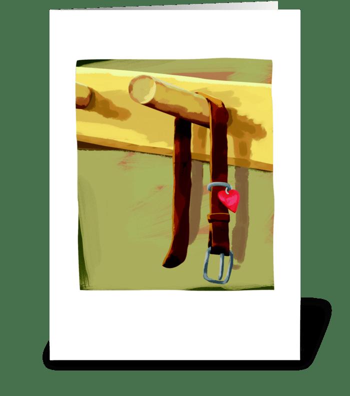 Collar Sympathy greeting card