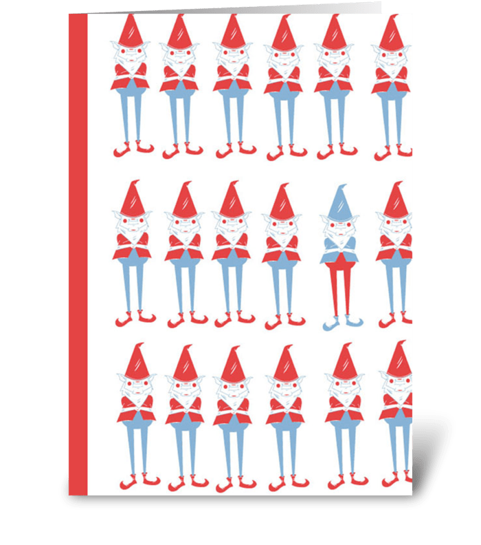 Gnome Pattern greeting card