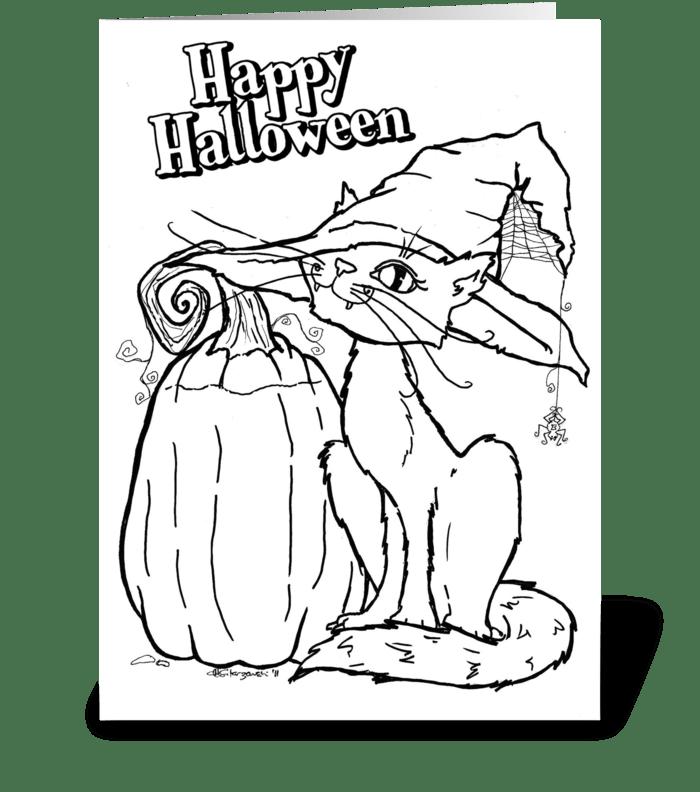 Halloween - Coloring Card greeting card