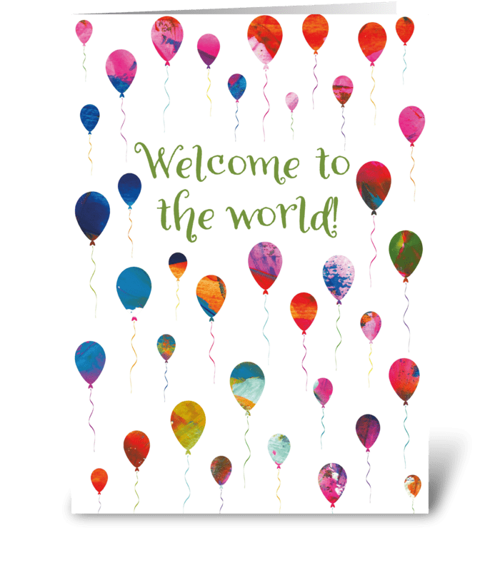 New Baby Card Modern and Fun! greeting card