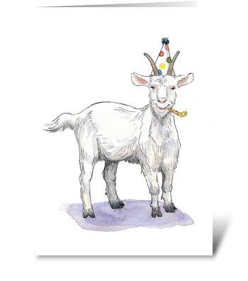 Goat Party Animal greeting card