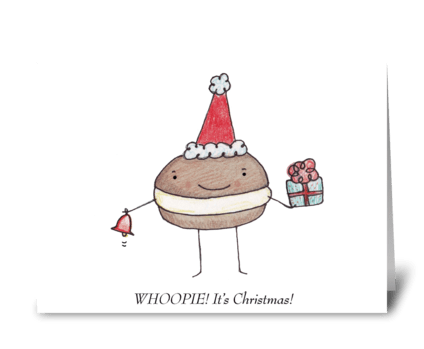 Whoopie Pie Christmas greeting card