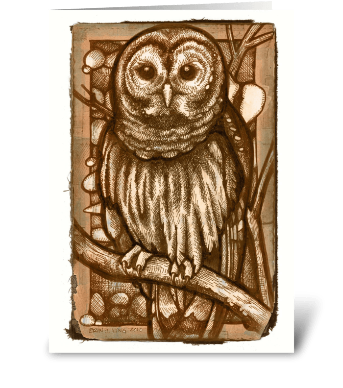 """""""Hoo"""" Cooks Your Dinner greeting card"""