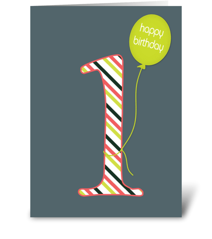 First Birthday greeting card