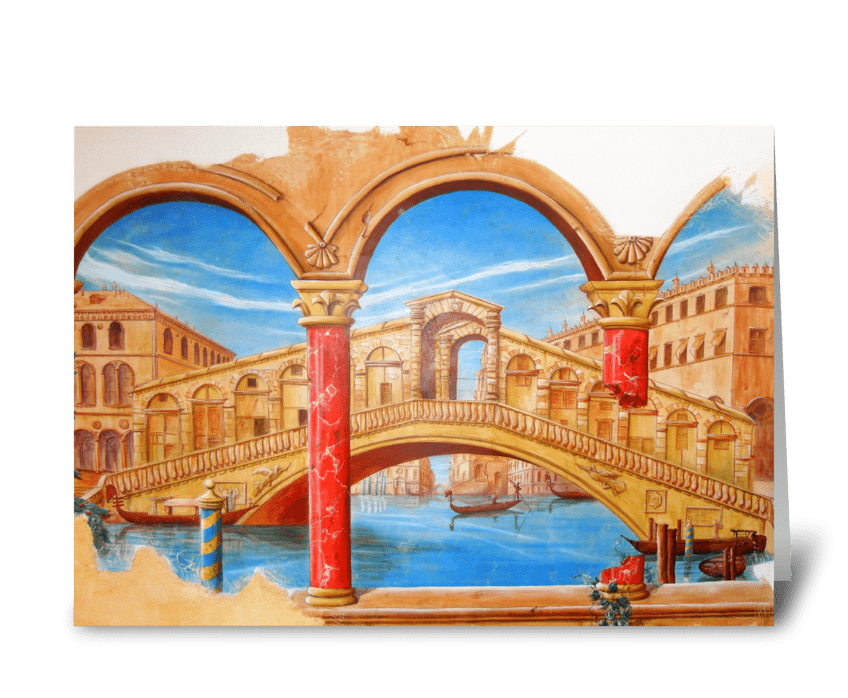 Rialto Bridge, Venice greeting card