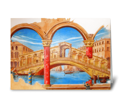 Rialto Bridge, Venice greeting card