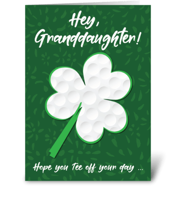 Granddaughter Golf Sports St. Patrick's  greeting card