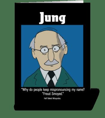 Carl Jung greeting card