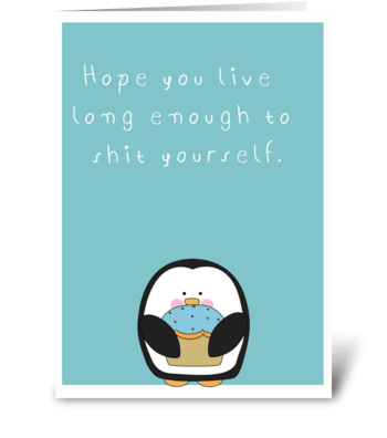 Humor Happy Birthday greeting card