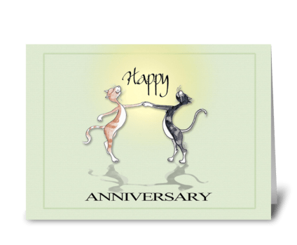 Happy Cats, Happy Anniversary greeting card
