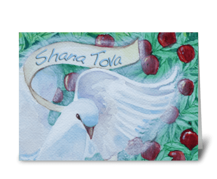 Shana Tova Dove Note Card greeting card