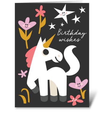 Unicorn Wishes greeting card