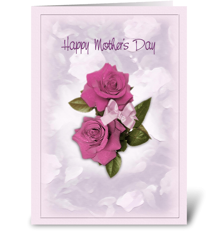 Elegant Roses, Mother's Day greeting greeting card