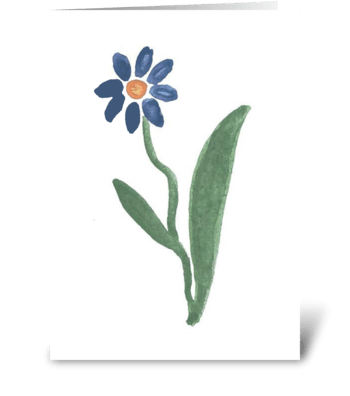 Watercolor - Flower greeting card