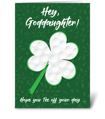 Goddaughter Golf Sports St. Patrick's greeting card