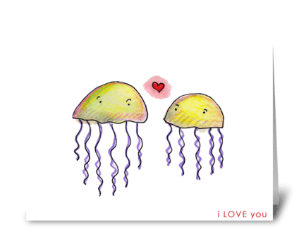 Jellyfish Love greeting card