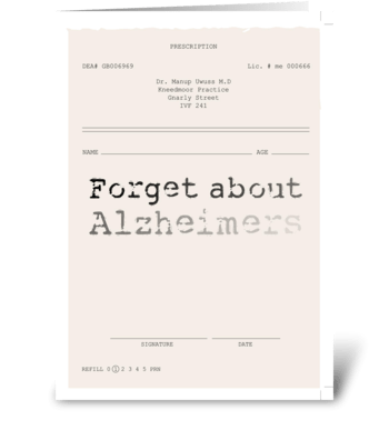 Alzheimers * Inspiration-ill greeting card