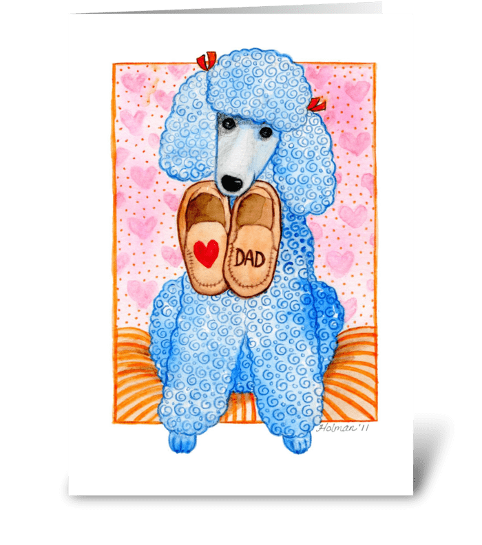 Father's Day Standard Poodle greeting card