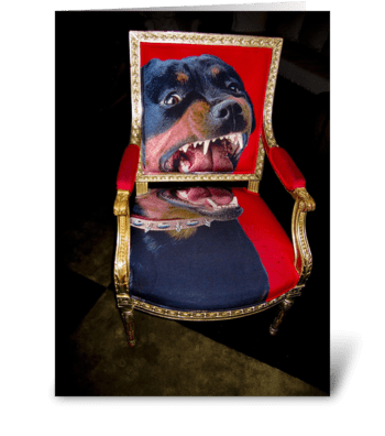 Cool Chair greeting card