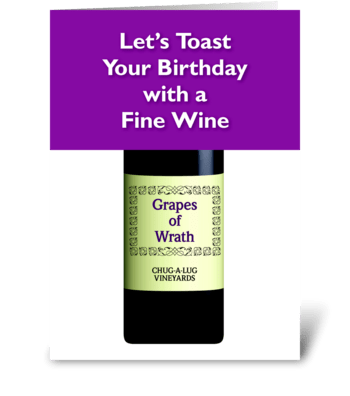 Fine Wine greeting card