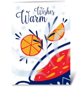 Spicy drink greeting card