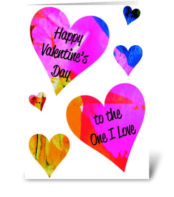 Valentine's Day Card greeting card